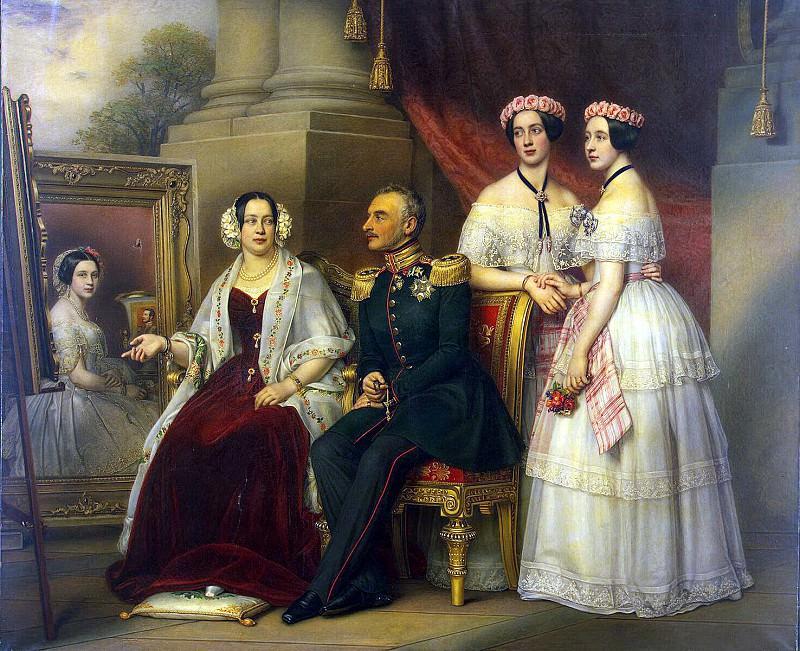 Штилер, Йозеф Карл - Групповой портрет семьи герцога Йозефа Саксен-Алтенбургского. Эрмитаж ~ часть 13