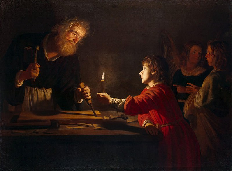 Honthorst, Gerrit van. Childhood of Christ. Hermitage ~ part 13