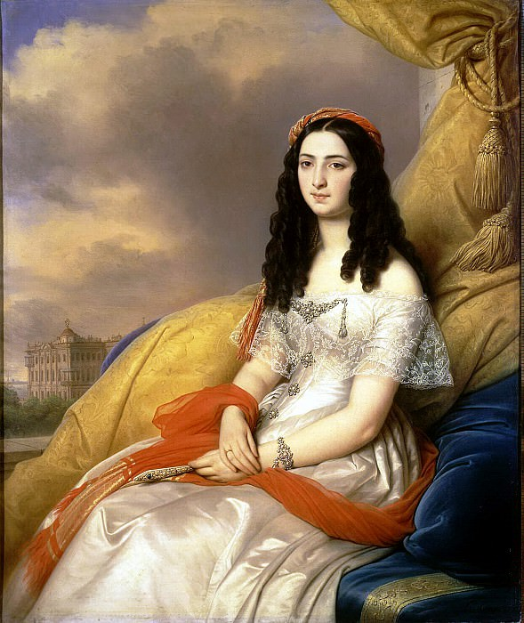 Shteyben, Carl von. Portrait of Countess D Ash. Hermitage ~ part 13