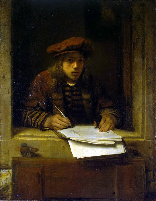 Hogstraten, Samuel Diercks van. Self-portrait. Hermitage ~ part 13