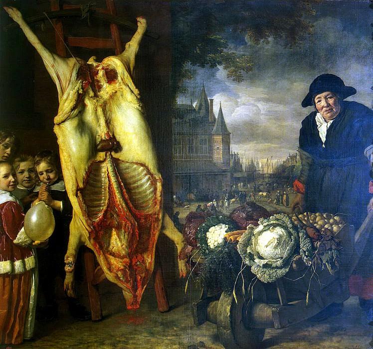 Helst, Bartholomeus van der. The new market in Amsterdam. Hermitage ~ part 13