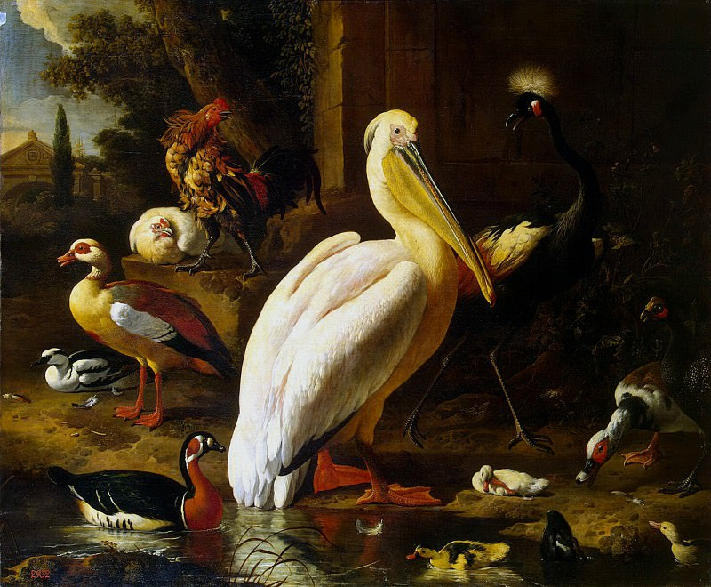 Hondekuter, Melchior de. Birds in the park. Hermitage ~ part 13