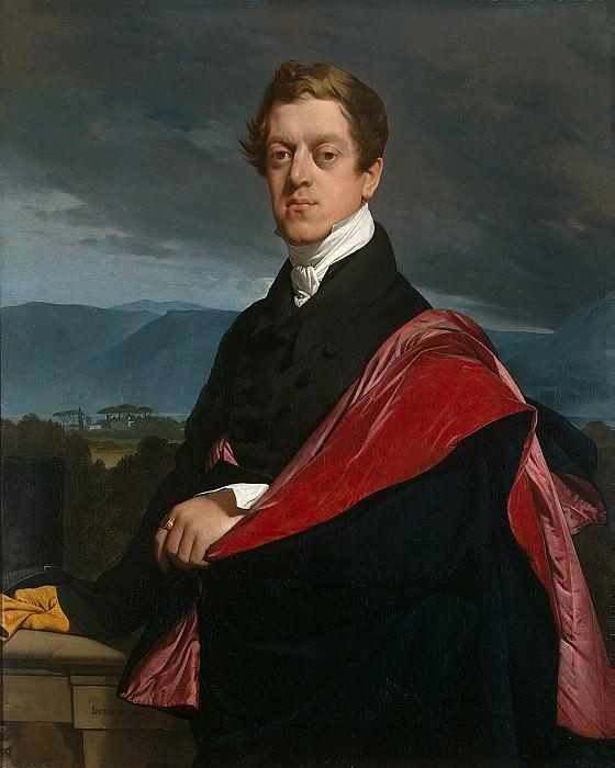Ingres, Jean Auguste Dominique. Portrait of Count ND Guriev. Hermitage ~ part 13