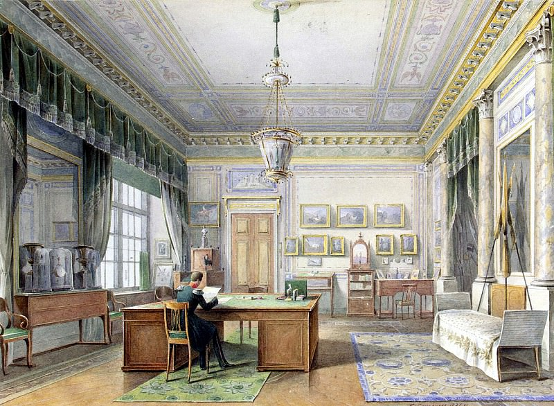 Chernetsov Nikanor Grigorievich. Types of rooms in the Winter Palace. The Cabinet of Alexander II. part 13 Hermitage