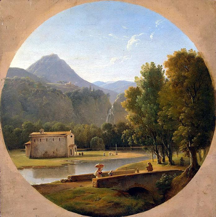 Shoven, Pierre Athanase. Italian landscape (2). Hermitage ~ part 13