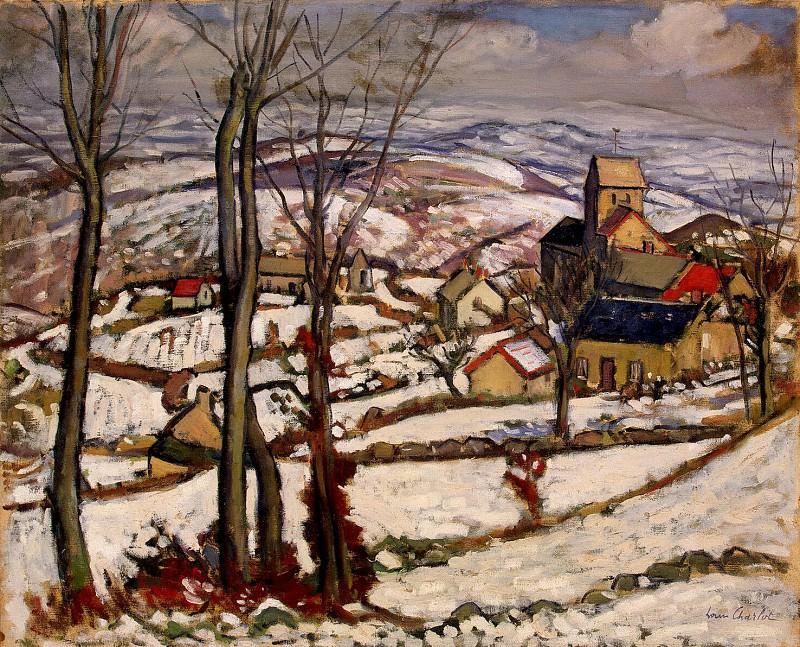 Charlot, Louis. The village under snow in Morvane. Hermitage ~ part 13