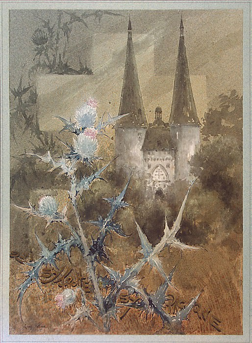 This is Louis. Thistle flower with a view of the monastery in the background. Hermitage ~ part 13
