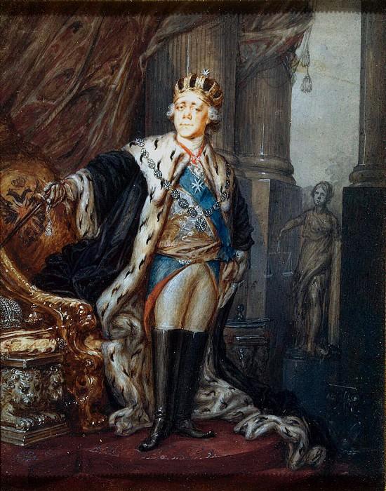 Shchukin Stepan Semenovich. Portrait of Paul I in the crown of Grand Master of Malta. Hermitage ~ part 13