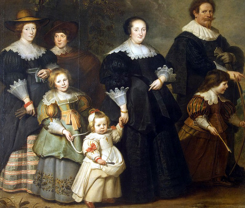 Vos, Cornelis de - Portrait of the artist and his wife Suzanne Kok and children. Hermitage ~ part 03