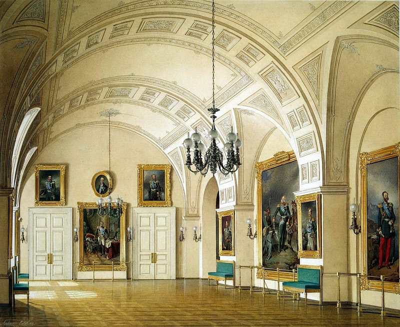 Hau, Eduard Petrovich - Types of rooms of the Winter Palace. Small Field Marshals Hall. Hermitage ~ part 03