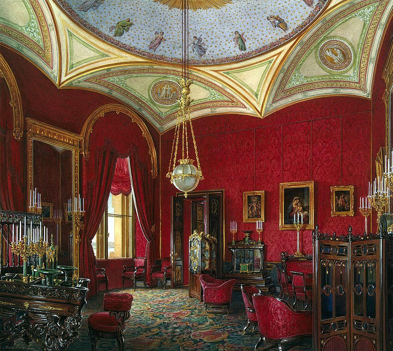 Hau Edward Petrovich - Types of rooms of the Winter Palace. Study of Empress Alexandra Feodorovna. Hermitage ~ part 03