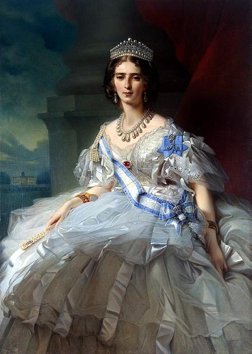 Winterhalter, Francois Xavier - Portrait of Princess Tatyana Alexandrovna Yusupova. Hermitage ~ part 03