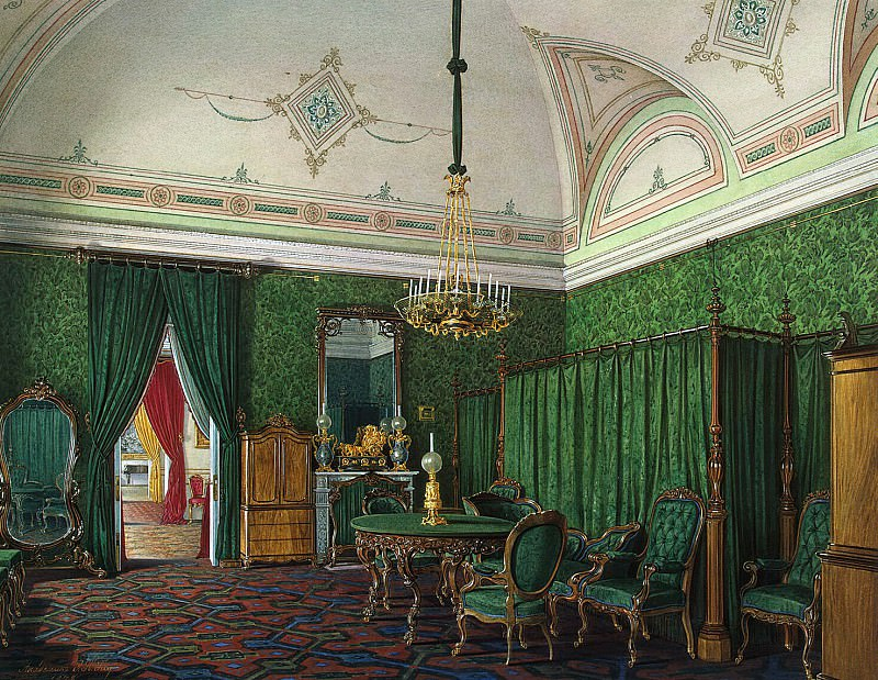 Hau, Eduard Petrovich - Types of rooms of the Winter Palace. Third spare half. Bedroom. Hermitage ~ part 03