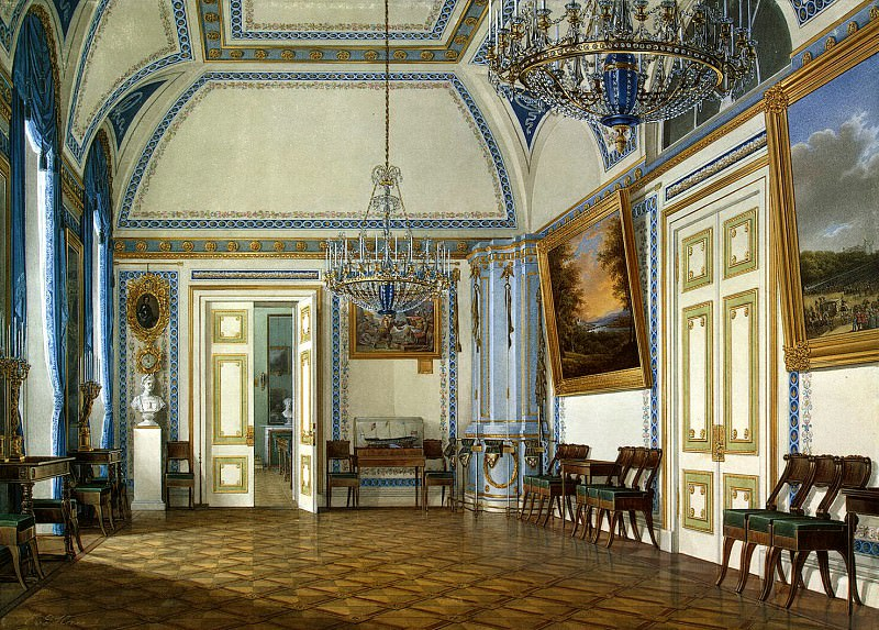 Hau Edward Petrovich - Types of rooms of the Winter Palace. Receiving an heir, Grand Duke Alexander Nikolaevich. Hermitage ~ part 03