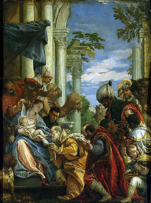 Veronese, Paolo - The Adoration of the Magi. Hermitage ~ part 03