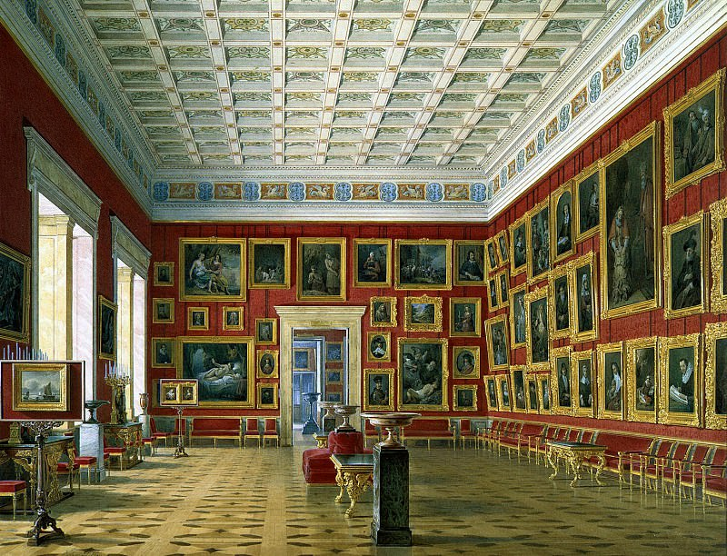 Hau Edward Petrovich - Types halls of the New Hermitage. Hall of Dutch and Flemish schools. Hermitage ~ part 03