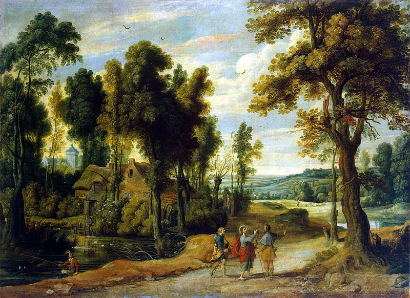 Vildens, Jan - Landscape with Christ and his disciples on the road to Emmaus. Hermitage ~ part 03
