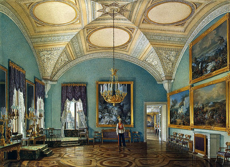 Hau Edward Petrovich - Types of rooms of the Winter Palace. The first hall of the Military Gallery. part 03 Hermitage