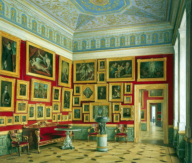 Hau Edward Petrovich - Types halls of the New Hermitage. Cabinet of the Italian schools (3). Hermitage ~ part 03