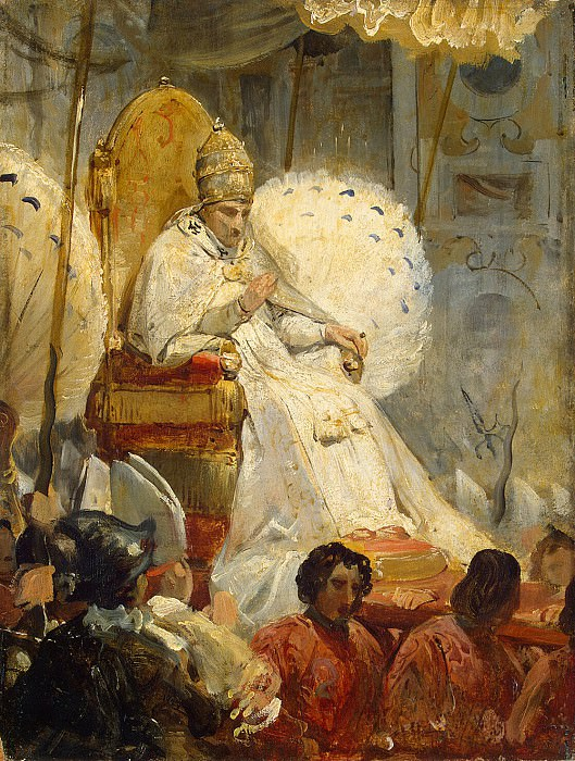 Vernet, Horace - Ceremonial removal Pope Pius VIII in the Cathedral of St.. Peter 1829. Hermitage ~ part 03