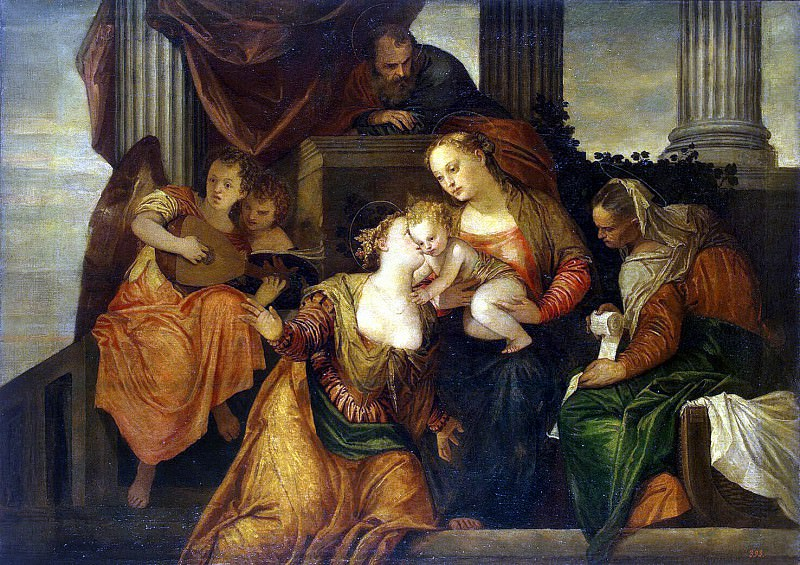 Veronese, Paolo - Betrothal of St. Catherine. Hermitage ~ part 03