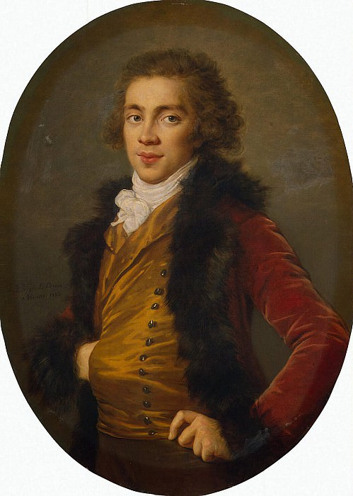 Vigee-Lebrun, Elisabeth-Louise - Portrait of Baron Grigory Alexandrovich Stroganoff. Hermitage ~ part 03