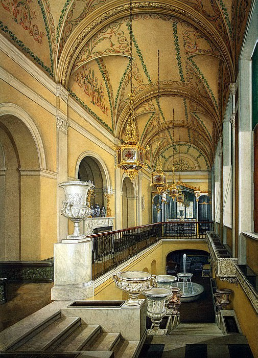 Hau Edward Petrovich - Types of rooms of the Winter Palace. Winter Garden of Empress Alexandra Feodorovna. Hermitage ~ part 03