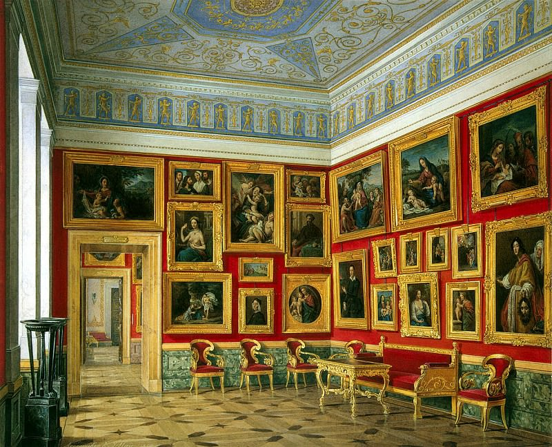 Hau Edward Petrovich - Types halls of the New Hermitage. Cabinet of the Italian schools (2). Hermitage ~ part 03