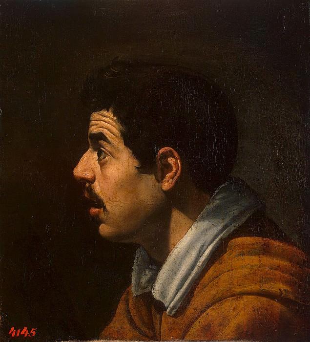 Velazquez, Diego - Mens head in profile. Hermitage ~ part 03