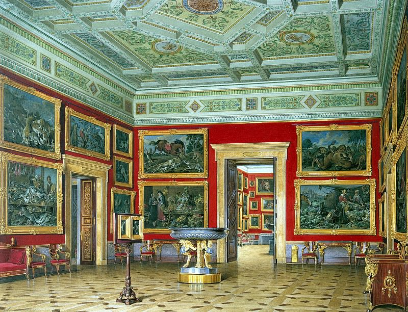 Hau Edward Petrovich - Types halls of the New Hermitage. Hall of the Flemish school (2). Hermitage ~ part 03