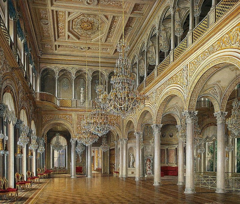 Hau Edward Petrovich - Types halls of the Small Hermitage. Pavilion Hall. Hermitage ~ part 03