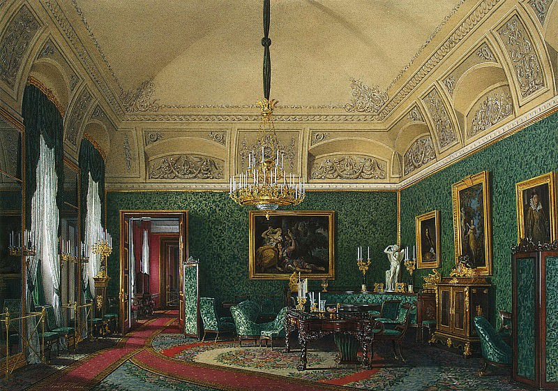 Hau Edward Petrovich - Types of rooms of the Winter Palace. The first half of the spare. Small cabinet led. book. Maria Nikolaevna. Hermitage ~ part 03