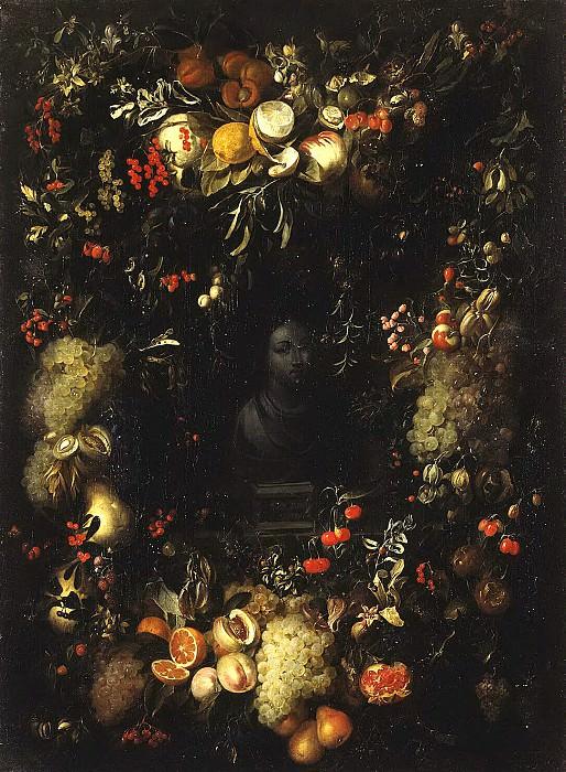 Gillemans, Jan Pauvel Senior - Bust of Madonna in the garland of fruit. Hermitage ~ part 03