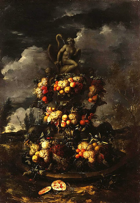 Gillemans, Jan Pauvel Younger - fountain, decorated with fruit. Hermitage ~ part 03