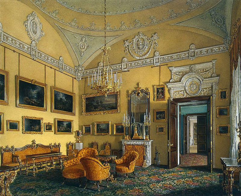Hau Edward Petrovich - Types of rooms of the Winter Palace. The first half of the spare. Seating Duke M. Leuchtenberg. Hermitage ~ part 03