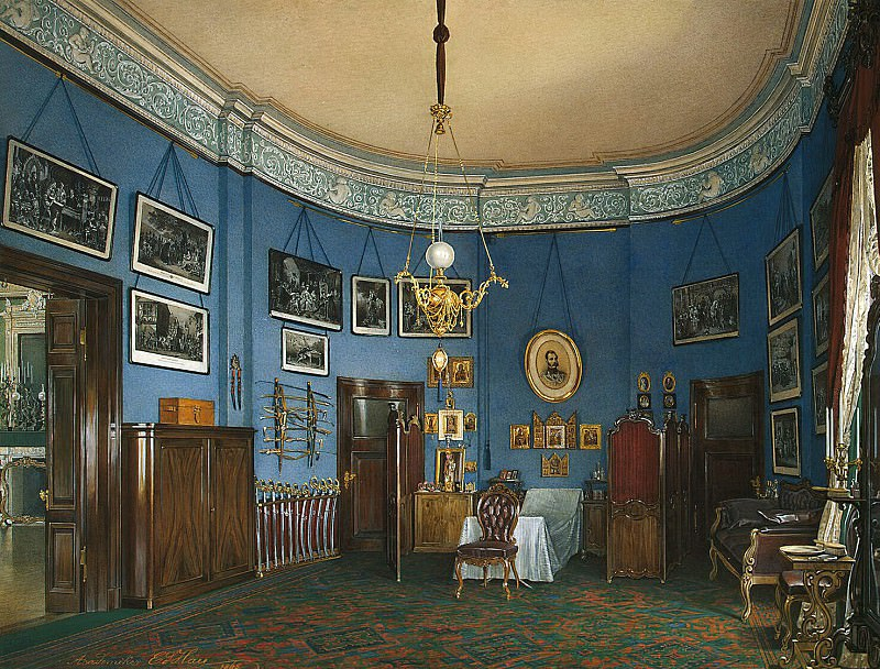 Hau Edward Petrovich - Types halls of the Small Hermitage. Bedroom Crown Prince Nikolai Alexandrovich. Hermitage ~ part 03