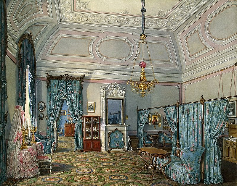 Hau Edward Petrovich - Types of rooms of the Winter Palace. Fifth spare half. Bedroom conducted. Princess Maria Alexandrovna. Hermitage ~ part 03