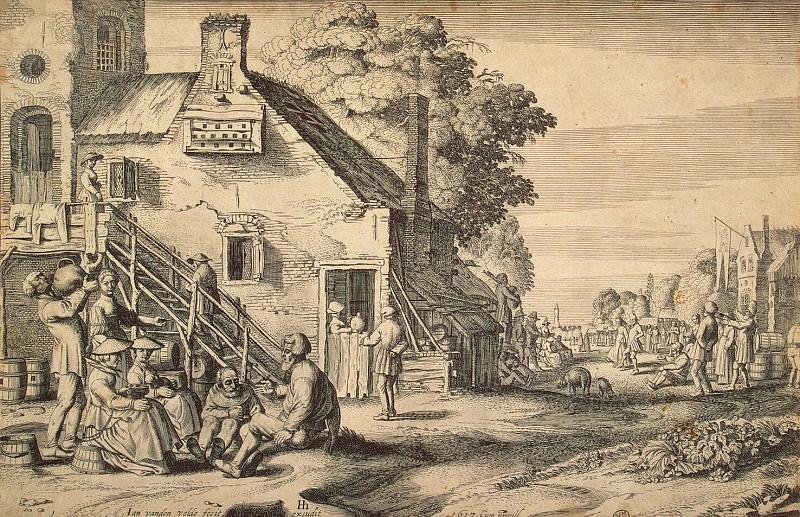 Velde, Jan van de - village street. Hermitage ~ part 03