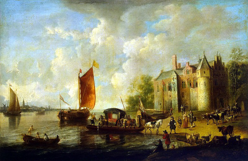 Velde, Peter van de - Castle on the banks of the river. Hermitage ~ part 03