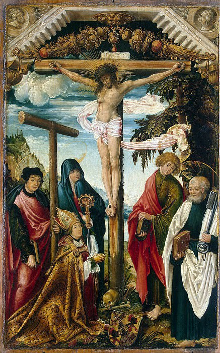 Vertinger, Hans - Crucifixion with the upcoming. Hermitage ~ part 03