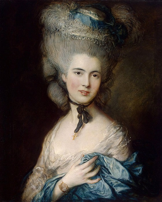 Gainsborough, Thomas - Portrait of a Lady in blue. Hermitage ~ part 03