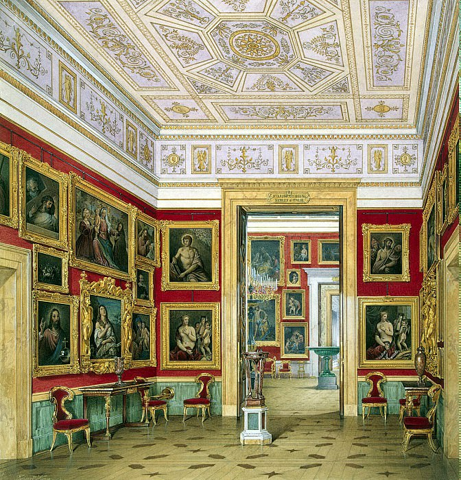 Hau Edward Petrovich - Types halls of the New Hermitage. Study Italian schools. Hermitage ~ part 03