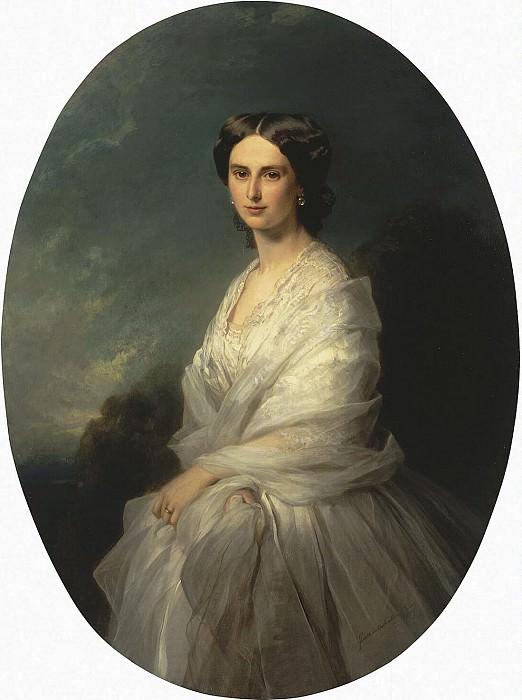 Winterhalter, Francois Xavier - Portrait of Countess Sophia Andreevny Bobrinsk. Hermitage ~ part 03