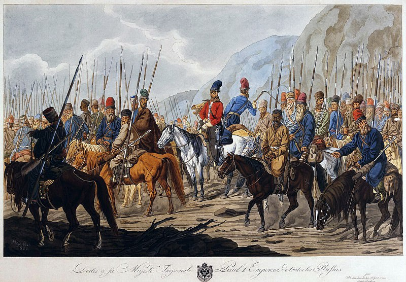 Hess, Carl Ernst - Russian Cossacks in the campaign. Hermitage ~ part 03