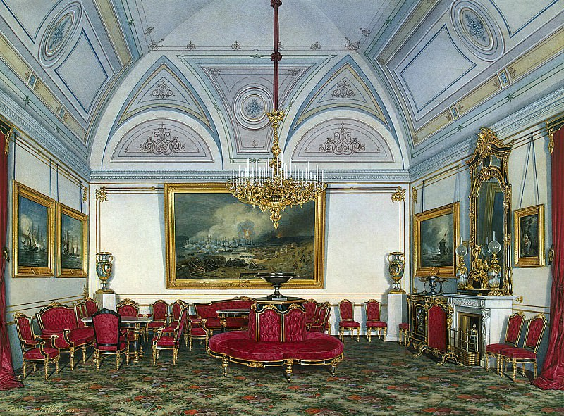 Hau Edward Petrovich - Types of rooms of the Winter Palace. Third spare half. Seating (2). Hermitage ~ part 03