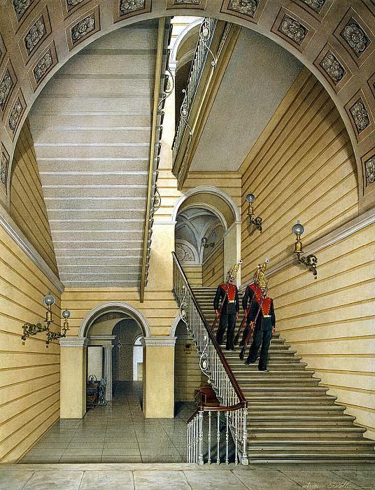 Гау, Эдуард Петрович - Виды залов Зимнего дворца. Церковная лестница. Эрмитаж ~ часть 3
