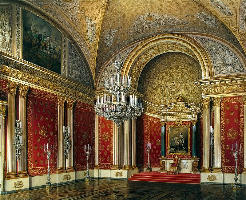 Hau Edward Petrovich - Types of rooms of the Winter Palace. Peter Hall. Hermitage ~ part 03