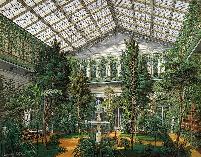 Hau, Eduard Petrovich - Types halls of the Small Hermitage. Winter Garden. Hermitage ~ part 03