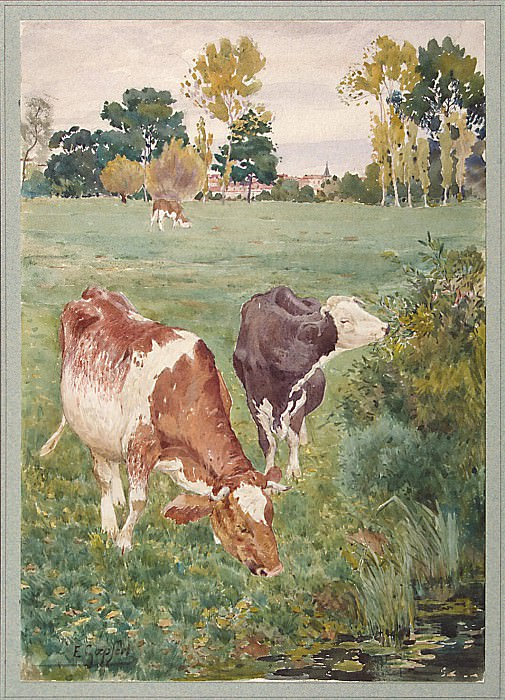 Gepfert, E. - Cows grazing in the meadow. Hermitage ~ part 03
