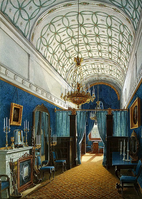 Hau Edward Petrovich - Types of rooms of the Winter Palace. Dressing Room of Empress Alexandra Feodorovna (2). Hermitage ~ part 03